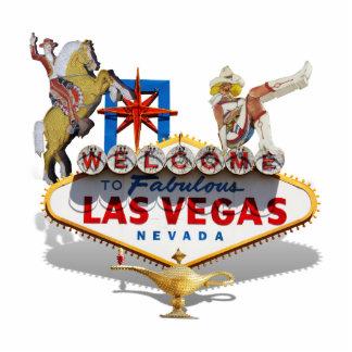 Las Vegas Welcome Sign Standing Photo Sculpture