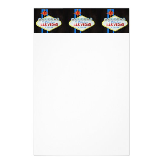 Las Vegas Welcome sign stationery