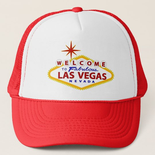 Las Vegas Welcome Sign Trucker Hat