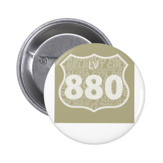 Las Virgenes - LV 880 White Diffused 6 Cm Round Badge
