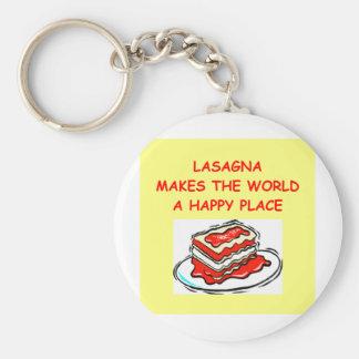 lasagna basic round button key ring