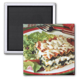 Lasagna Dinner Square Magnet