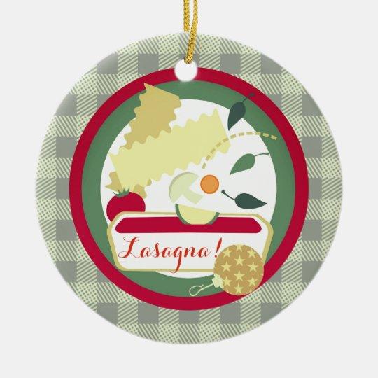 Lasagne Italian food Christmas tree ornament