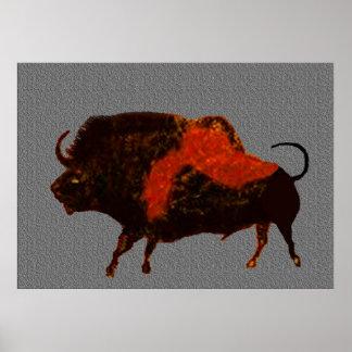 Lascaux Bison Print