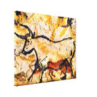 Lascaux Cave Painting of Cow on canvas