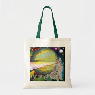 Laser-Cat Mossbody Tote Bag