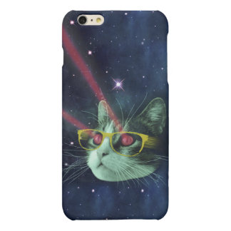 Laser cat with glasses in space iPhone 6 plus case