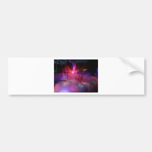 laser dance explosion bumper sticker
