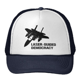 Laser-Guided Democracy / Peace through Firepower Hats