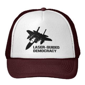 Laser-Guided Democracy / Peace through Firepower Trucker Hat