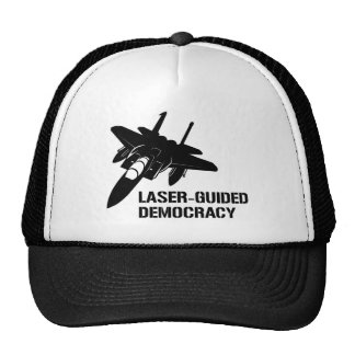 Laser-Guided Democracy / Peace through Firepower Mesh Hats