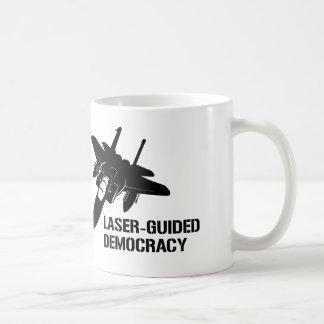 Laser-Guided Democracy / Peace through Firepower Mugs