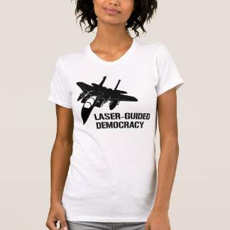 Laser-Guided Democracy Peace through Firepower Tshirt