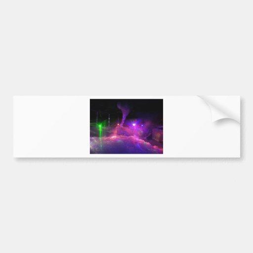 Laser Light nights Bumper Sticker