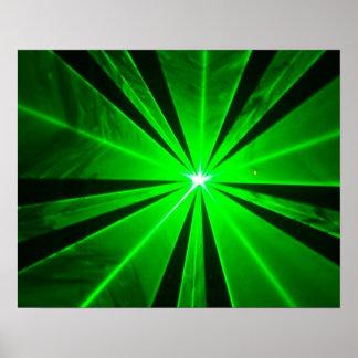 Laser lights - poster