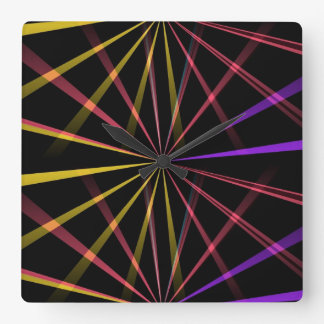 Laser lights square wall clock