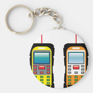 Laser measuring device vector basic round button key ring