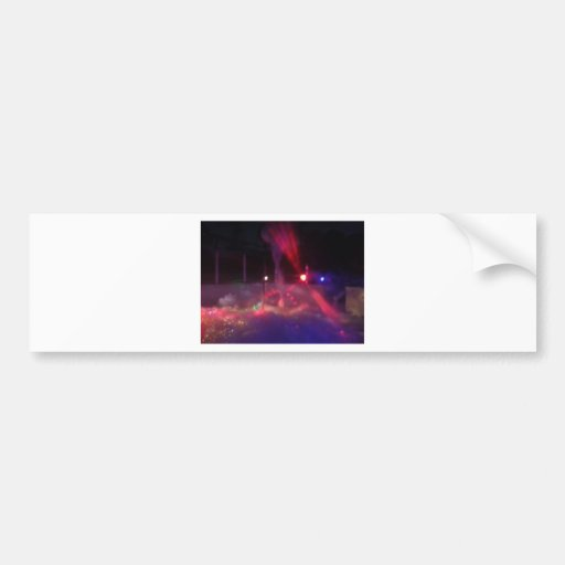 laser night party bumper sticker