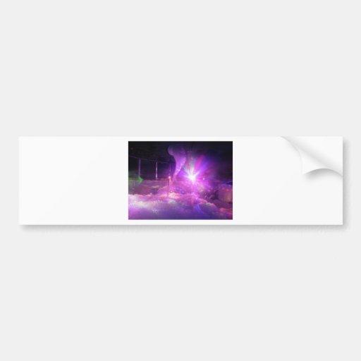 Laser purple blue foam bumper stickers