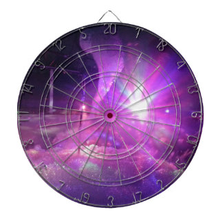 Laser purple blue foam dartboard with darts