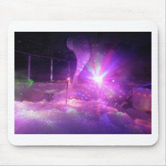 Laser purple blue foam mouse pad