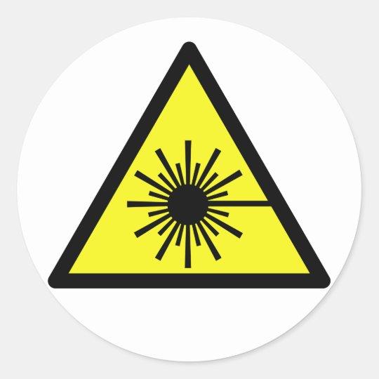 Laser_Radiation Classic Round Sticker