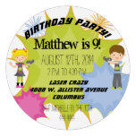 Laser Tag Birthday Party Customized Circle Invite Personalized Announcement