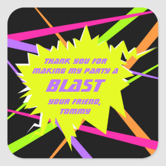 Laser Tag Birthday Party Favor Tag