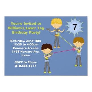 "Laser Tag Birthday Party Invitation 5"" X 7"" Invitation Card"