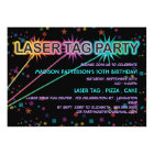 Laser Tag Birthday Party Invitation