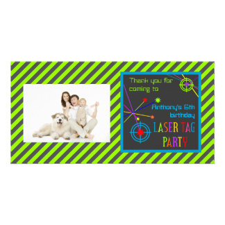 Laser Tag Party Birthday Thank You Photo Cards