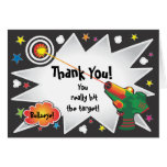 Laser tag Thank you card