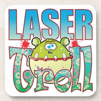 Laser Troll Drink Coasters