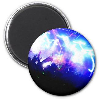 Lasers & Crowd 6 Cm Round Magnet