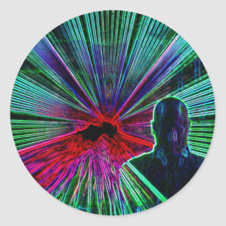 Lasers on DJ stickers
