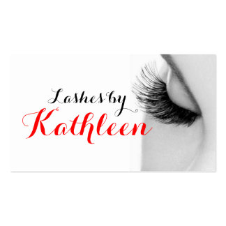 Lash Extensions Lashes Beauty Cosmetology Salon Business Cards
