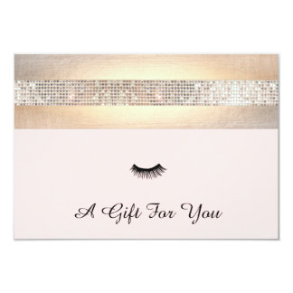Lash Extensions Salon Gift Certificate Card