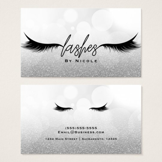 Lashes Black Eyelashes Extensions Makeup Glamour Business Card