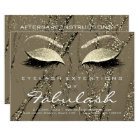 Lashes Extension Aftercare Instruction Marble Gold Card