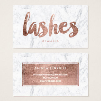 Lashes eye modern faux rose gold typography marble