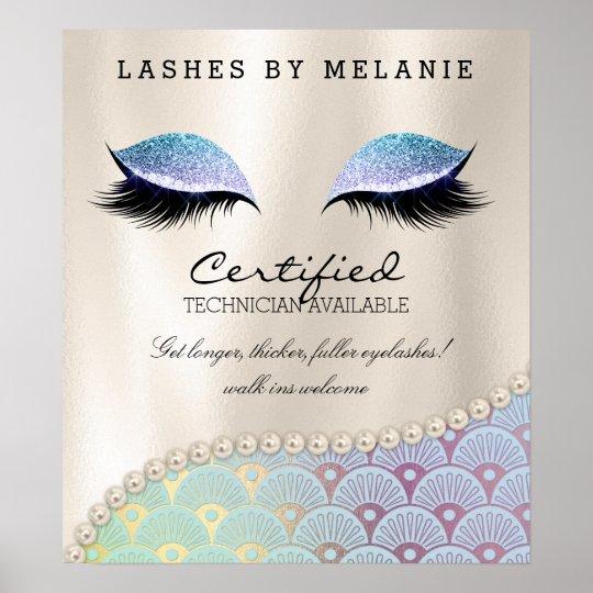 Lashes Eyelash Makeup Poster Pretty Eyes Mermaid