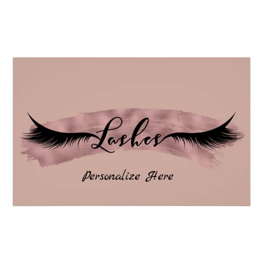 Lashes Eyelashes Rose Gold Blush Pink Beauty Salon