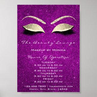 Lashes Makeup Artist Glitter Beauty Magenta Pink Poster