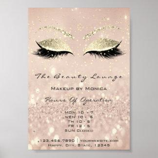 Lashes Makeup Artist Glitter Beauty Salon Skinny1 Poster