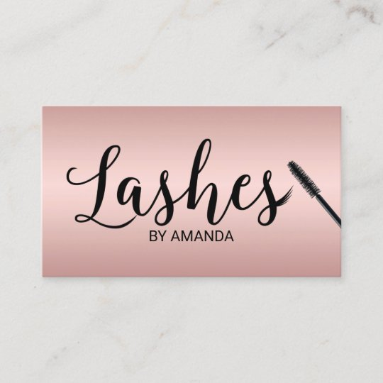 lashes makeup artist rose gold lash extension business card - Eyelash Extension Business Cards