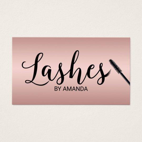 Lashes Makeup Artist Rose Gold Lash Extension Business