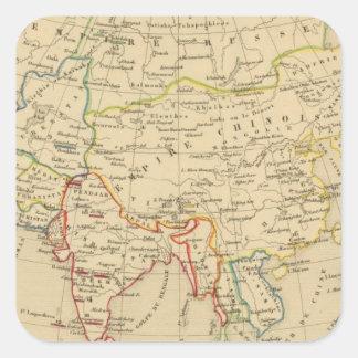 L'Asie, 1227 a 1840 Square Sticker