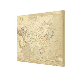 L'Asie, l'an 1220 ap JC Canvas Print