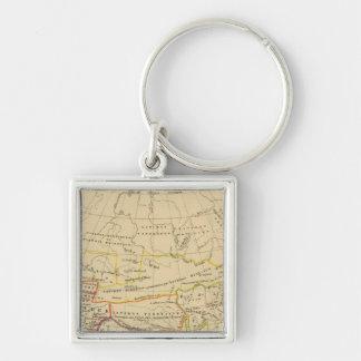L'Asie, l'an 322 av JC Silver-Colored Square Key Ring