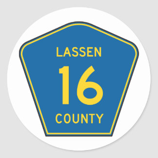 Lassen County Road Sign Stickers